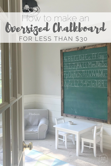 Fun Back to School Ideas - DIY Oversized Chalkboard by R and R at Home