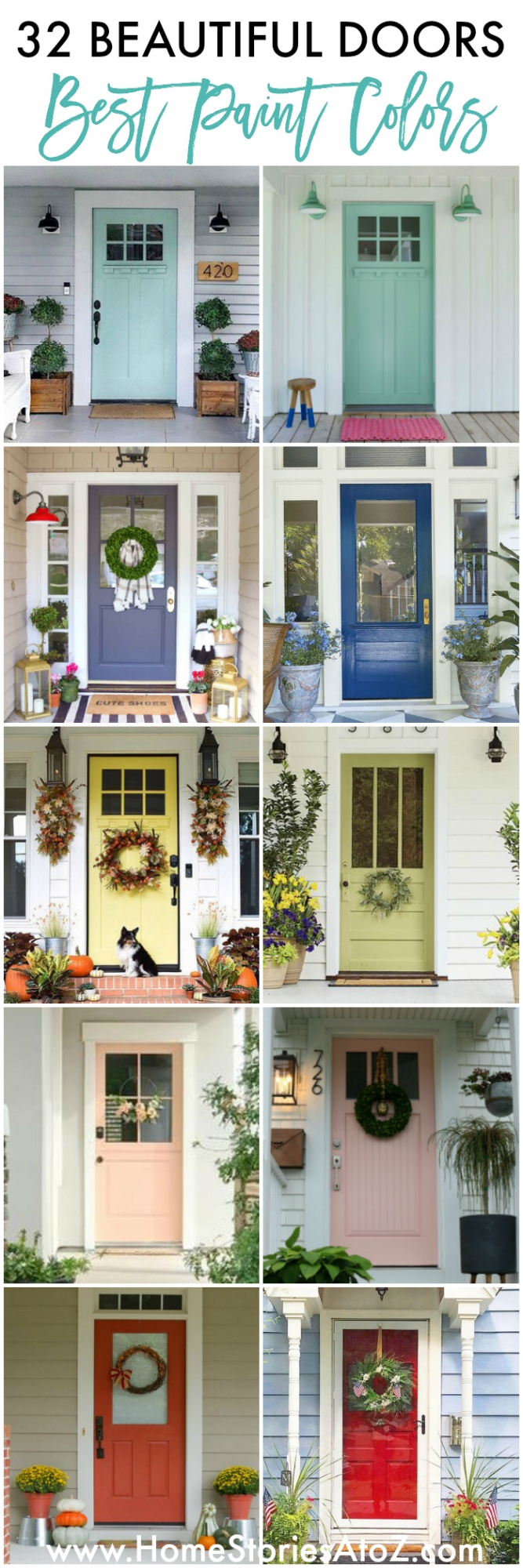 32 Beautiful Paint Colors for Your Door - Home Stories A to Z