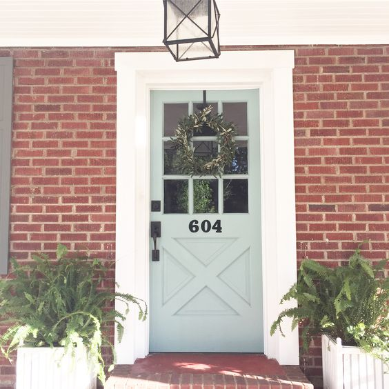 Beautiful Front Door Paint Color Ideas - Blue Barn and Cottage