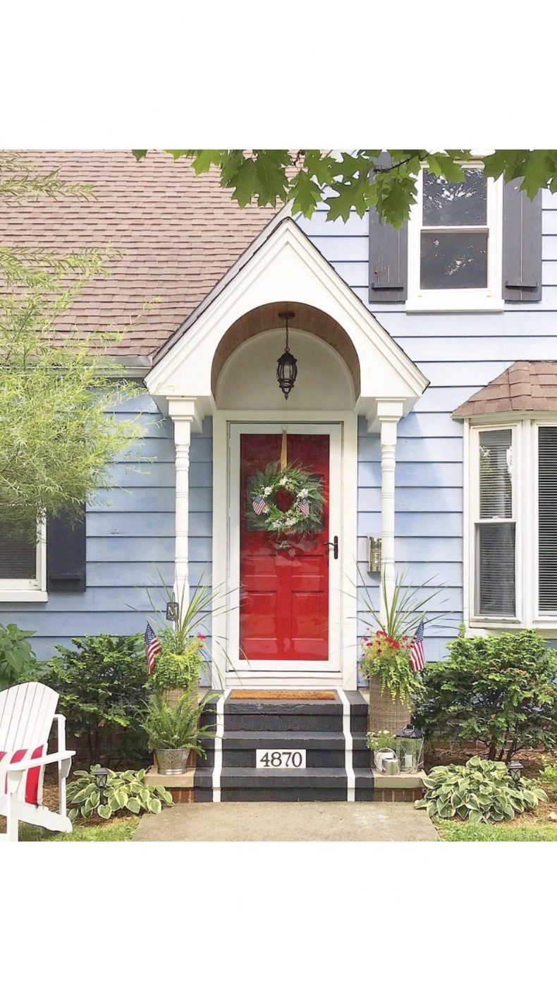 Beautiful Front Door Paint Color Ideas - My Purposed Place