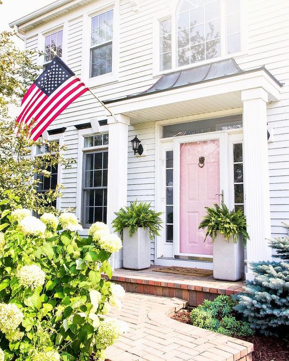 Beautiful Front Door Paint Color Ideas - Shining on Design