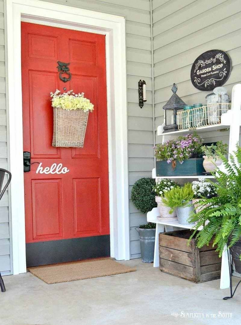 Beautiful Front Door Paint Color Ideas - Simplicity in the South