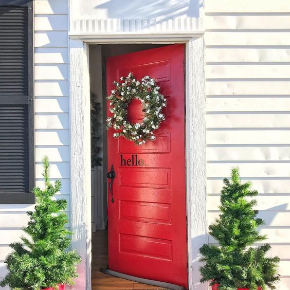 Beautiful Front Door Paint Color Ideas- The Morris Manor