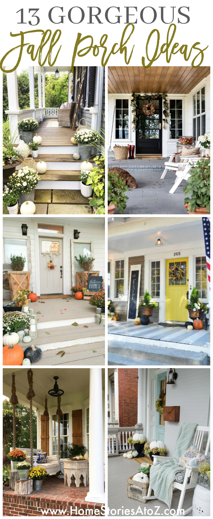 13 Gorgeous Fall Front Porch Ideas