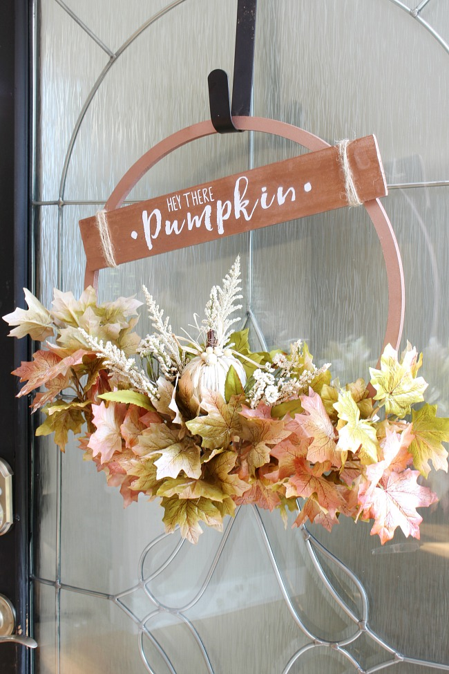 20 DIY Fall Wreath Ideas - DIY Copper Fall Hoop Wreath by Clean and Scentsible