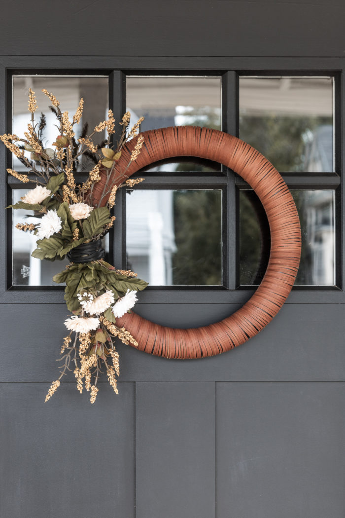 20 DIY Fall Wreath Ideas - DIY Leather Wreath by Cherished Bliss