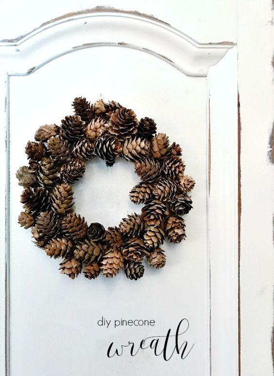 20 DIY Fall Wreath Ideas - DIY Pinecone Wreath by Thistlewood Farms
