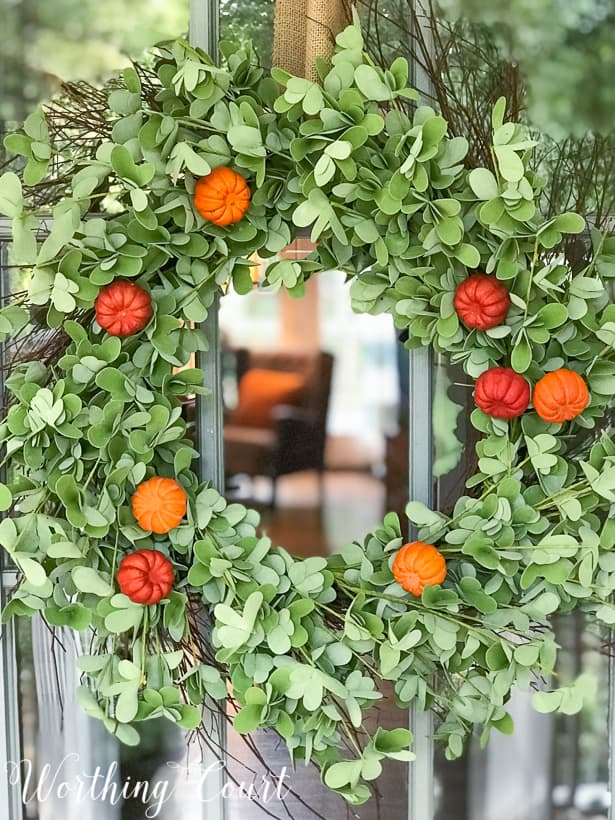 20 DIY Fall Wreath Ideas - Easy Fall Wreath by Worthing Court Blog