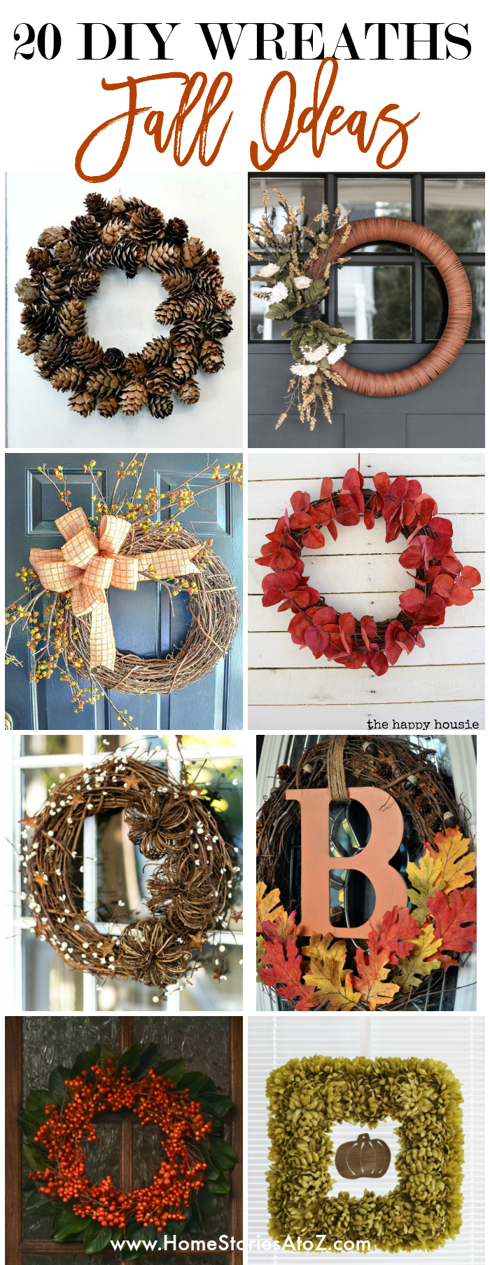 20 DIY Wreaths for Fall