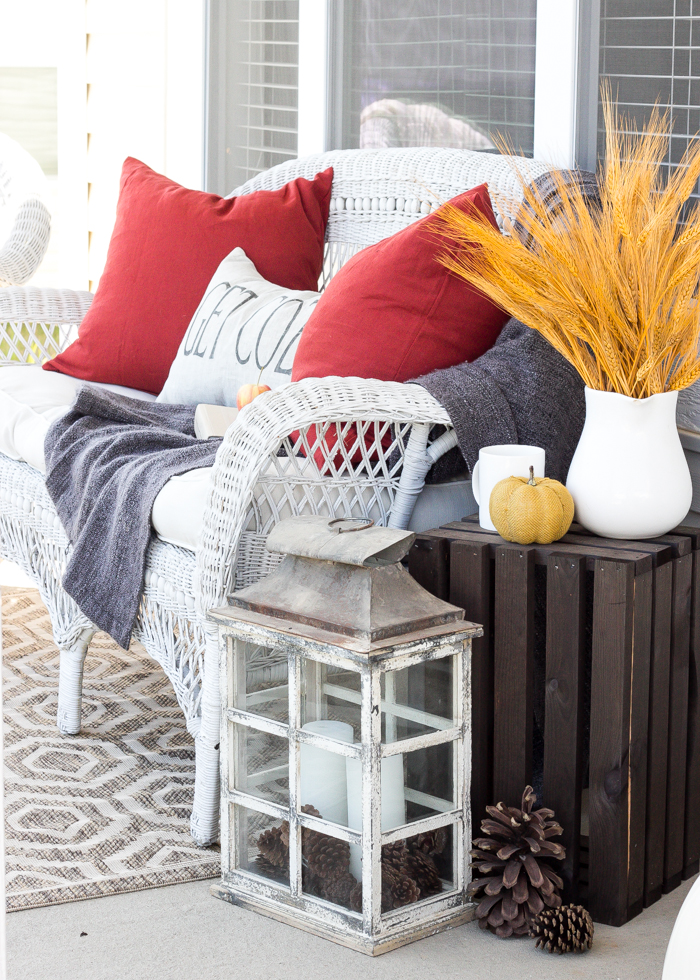 Traditional Fall Porch Decor Ideas - Cozy Fall Front Porch by Bless'er House