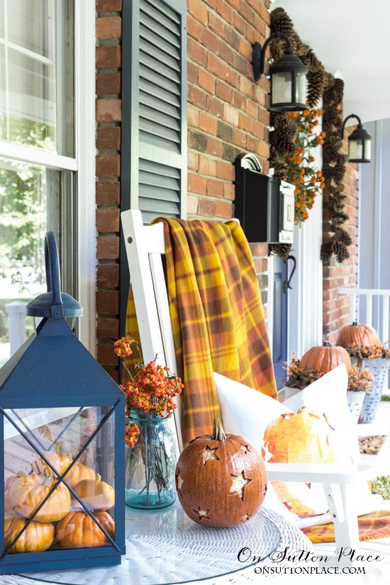 Traditional Fall Porch Decor Ideas - Easy Fall Decor Ideas by On Sutton Place