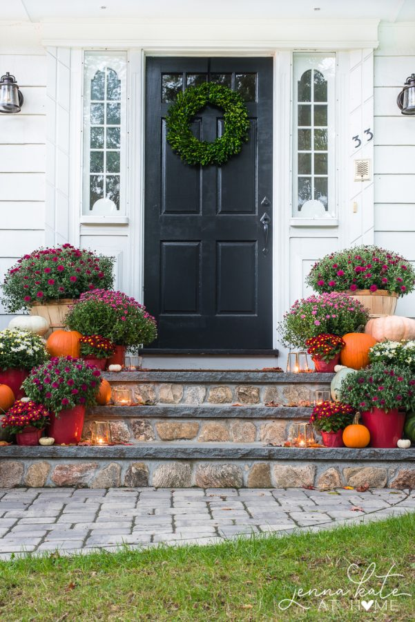 Traditional Fall Porch Decor Ideas - Fall Harvest Front Porch by Jenna Kate at Home