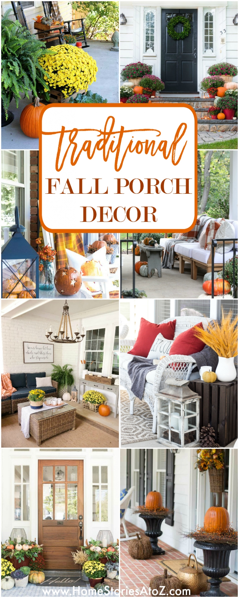 Traditional Fall Porch Decor Ideas - Home Stories A to Z