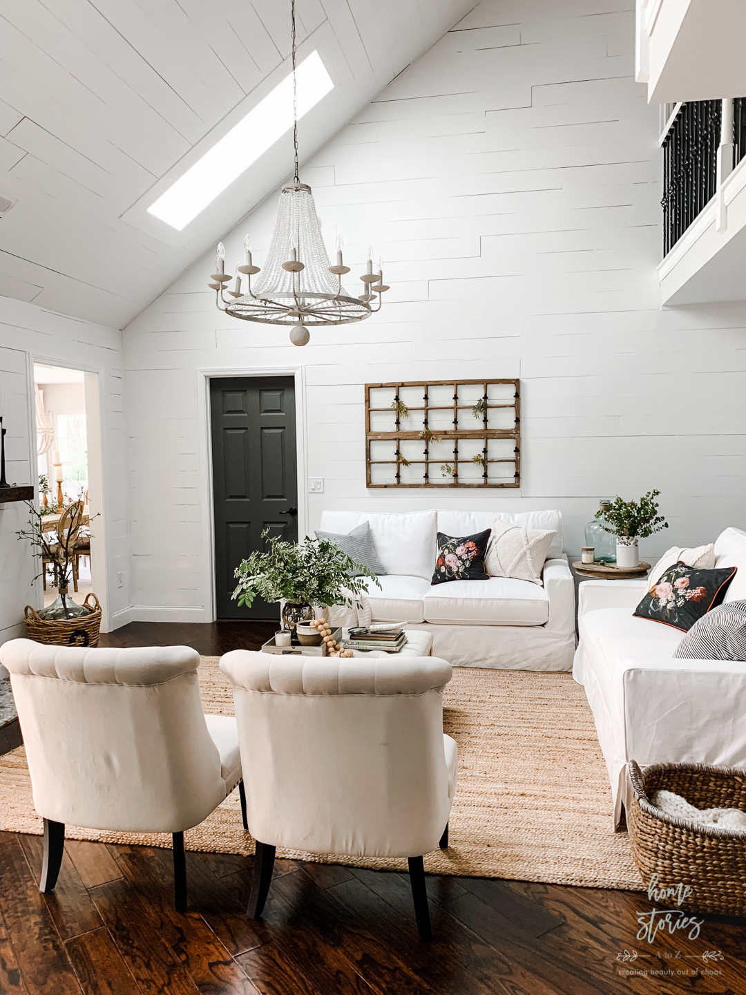 Chic Living Room: Vintage Chic Living Room Makeover Reveal With Velux Skylights