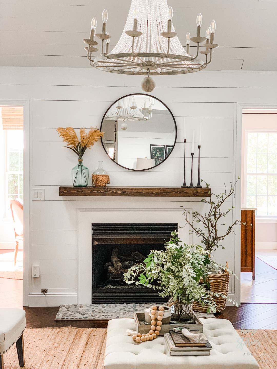 Fireplace Makeover How To Tile Over Existing Tile Tutorial