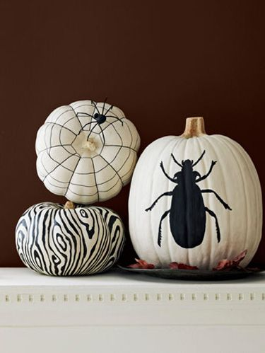 DIY Pumpkin Painting Ideas - Halloween Painted Pumpkins by Country Living