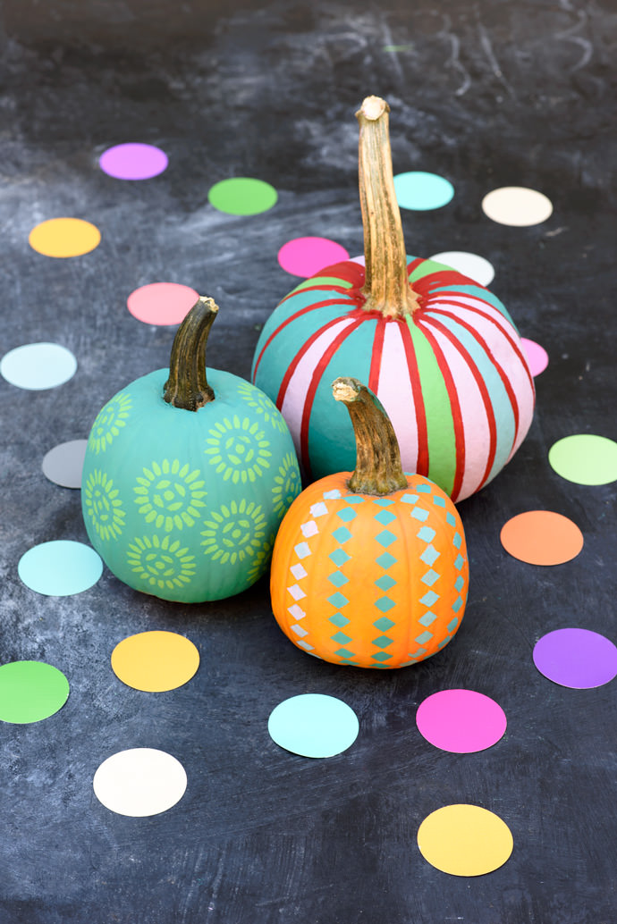 DIY Pumpkin Painting Ideas - Painted Pumpkins by Handmade Charlotte