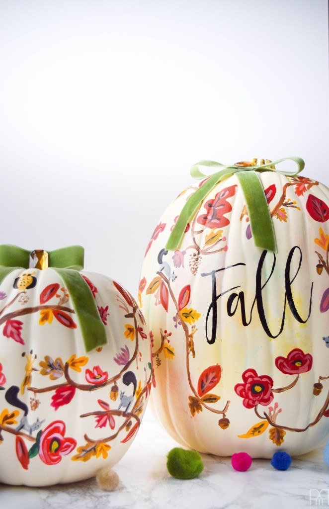 DIY Pumpkin Painting Ideas - Painted Pumpkins by PMQ for TWO