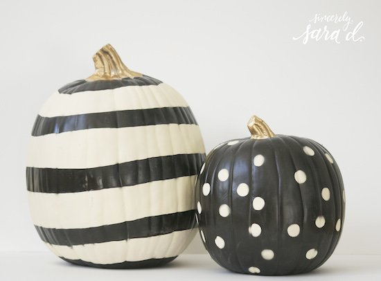 DIY Pumpkin Painting Ideas - Unique Pumpkins by Sincerely, Sara D