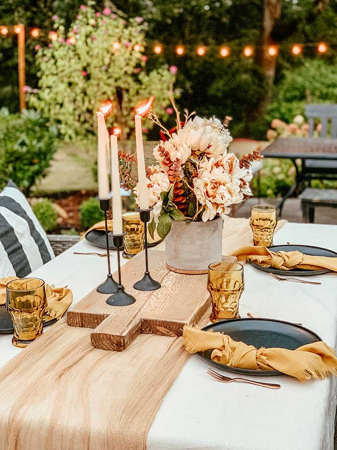 Fall Dining Room Ideas - Fall Outdoor Table by Hallstrom Home