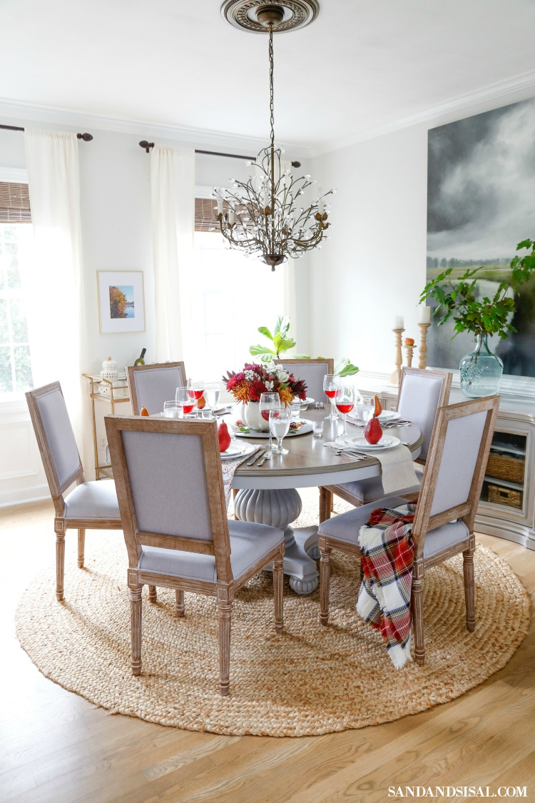Fall Dining Room Ideas - Thanksgiving Table by Sand & Sisal