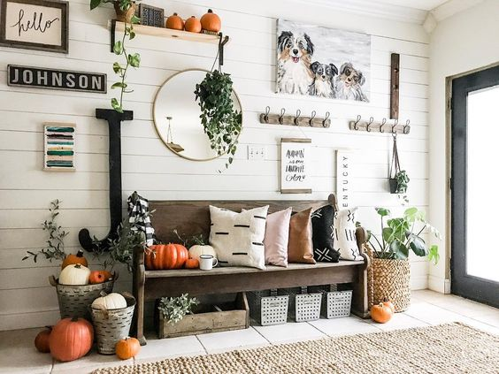 Fall Mudrom and Entryway Ideas - Pine & Birch