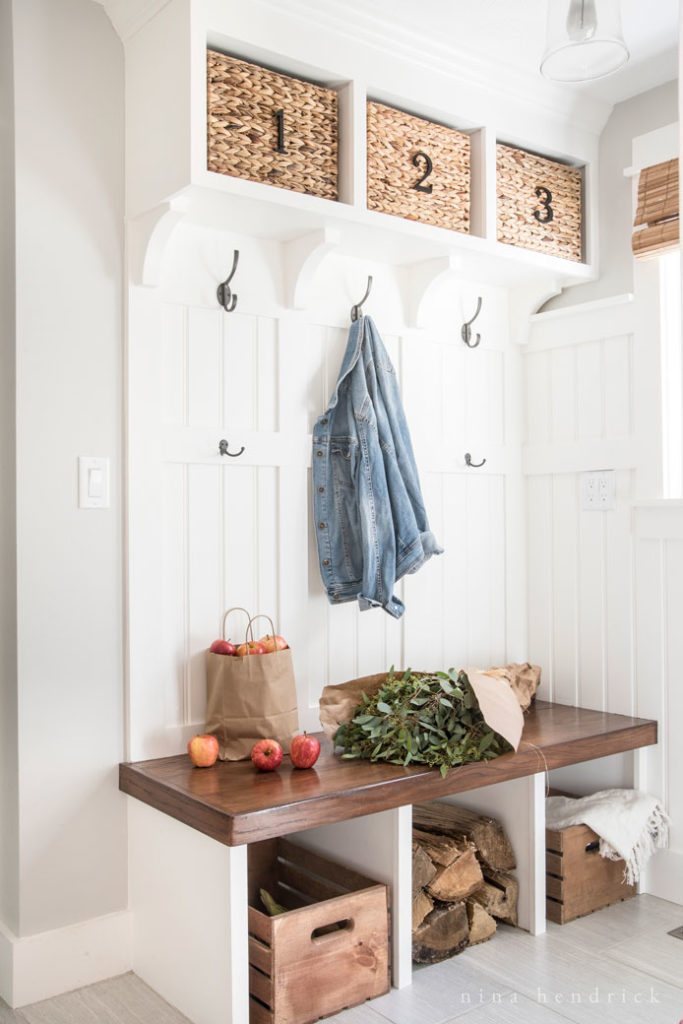 Fall Mudroom and Entryway Ideas - Fall Mudroom by Nina Hendrick