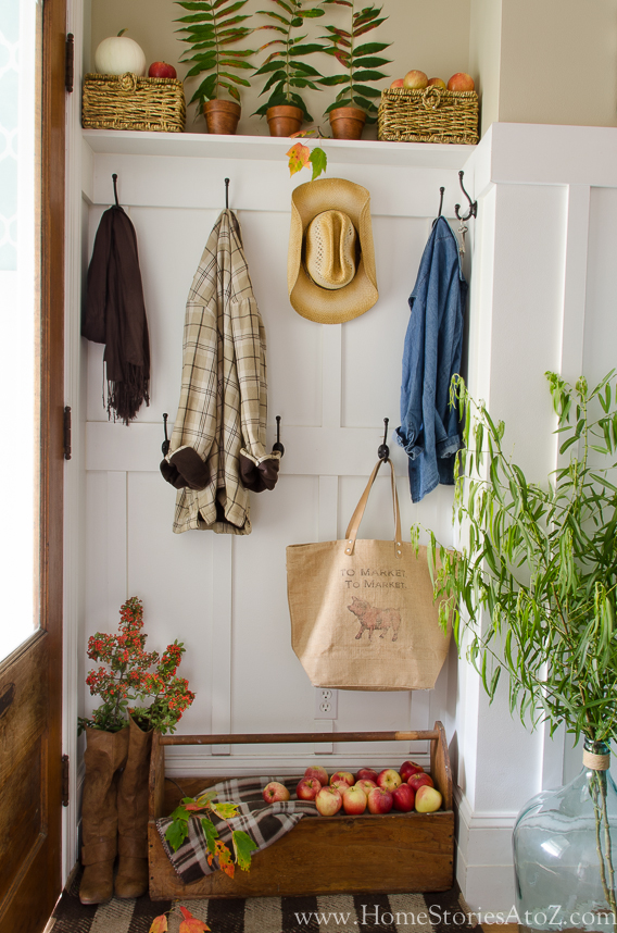 Fall Mudroom and Entryway Ideas - Fall Nook Ideas by Home Stories A to Z
