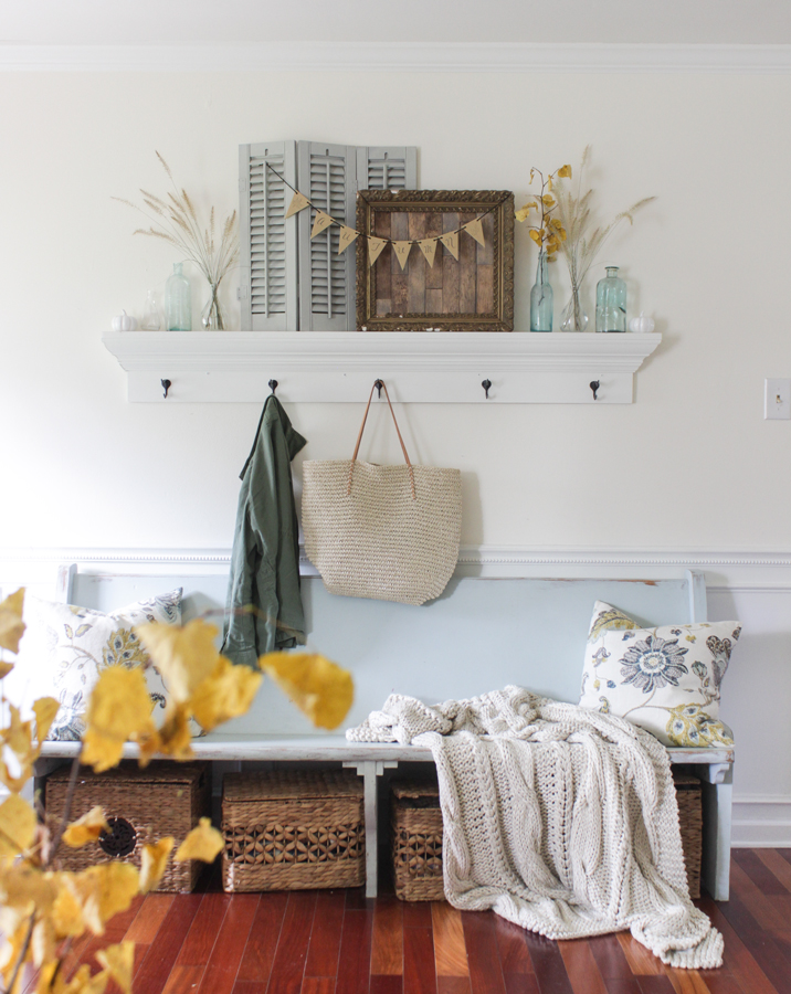 Fall Mudroom and Entryway Ideas - Fall entryway by Shades of Blue Interiors