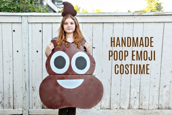 Halloween Costume DIY Poop Emoji Costume by 5 Minutes for Mom