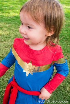 Halloween Costume Ideas - Captain Marvel by Tried & True