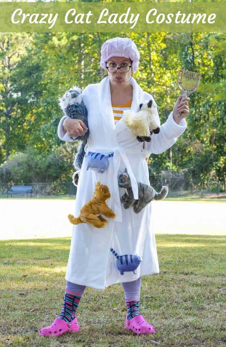 Halloween Costume Ideas - Crazy Cat Lady Costume by Modge Podge Rocks