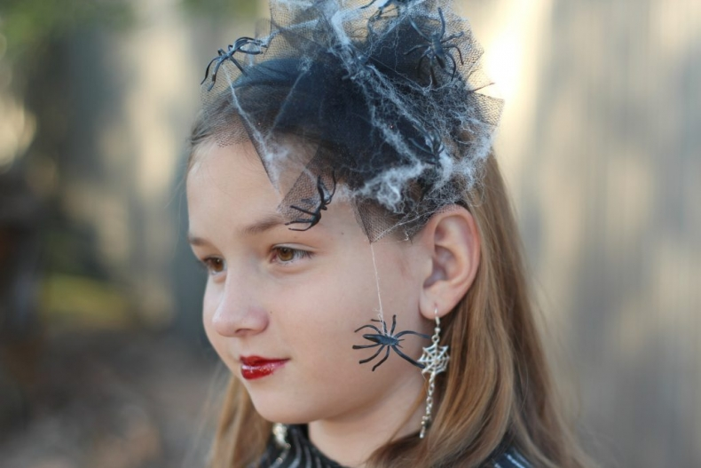 Halloween Costume Ideas - DIY Creepy Spiderweb Headband