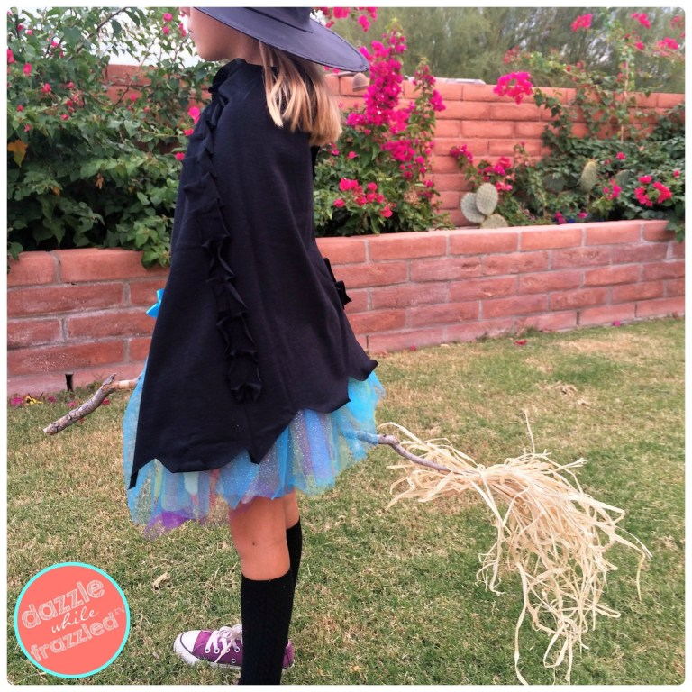 Halloween Costume Ideas - DIY Halloween Witch Cape by Dazzle While Frazzled