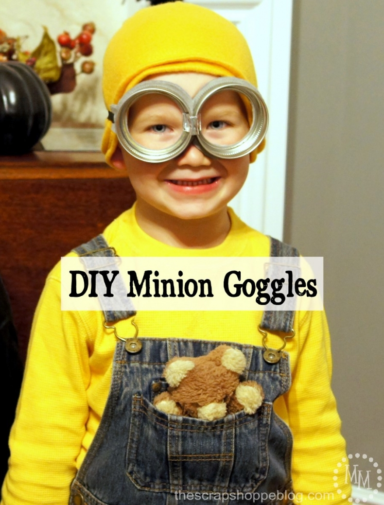 Halloween Costume Ideas - DIY Minion Goggles by Scrap Shoppe Blog