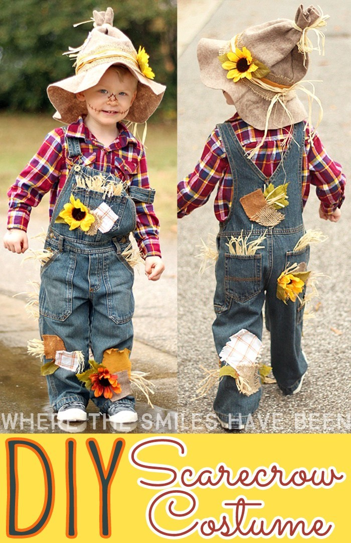 Halloween Costume Ideas - DIY Scarecrow Costume by Where the Smiles have Been