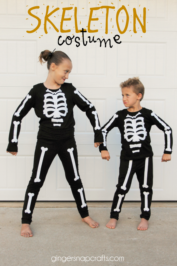 Halloween Costume Ideas - Easy DIY Skeleton Costume by I Dig Pinterest