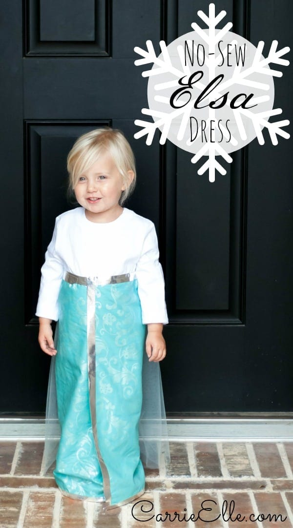Halloween Costume Ideas - No-Sew Elsa Costume by Carrie Elle