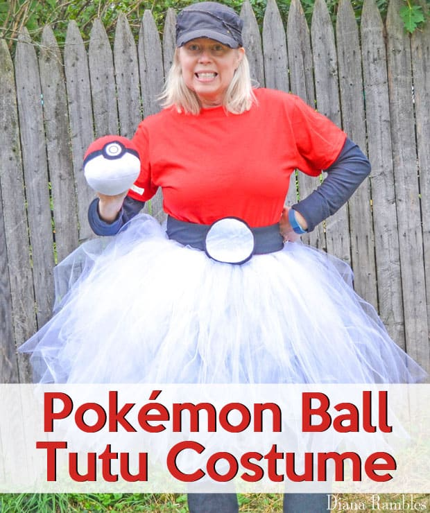 Halloween Costume Ideas - Pokemon Pokeball Costume by Diana Rambles