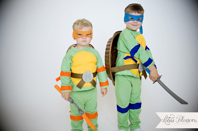 Halloween Costume Ideas - Teenage Mutant Ninja Turtles by Scrap Shoppe Blog