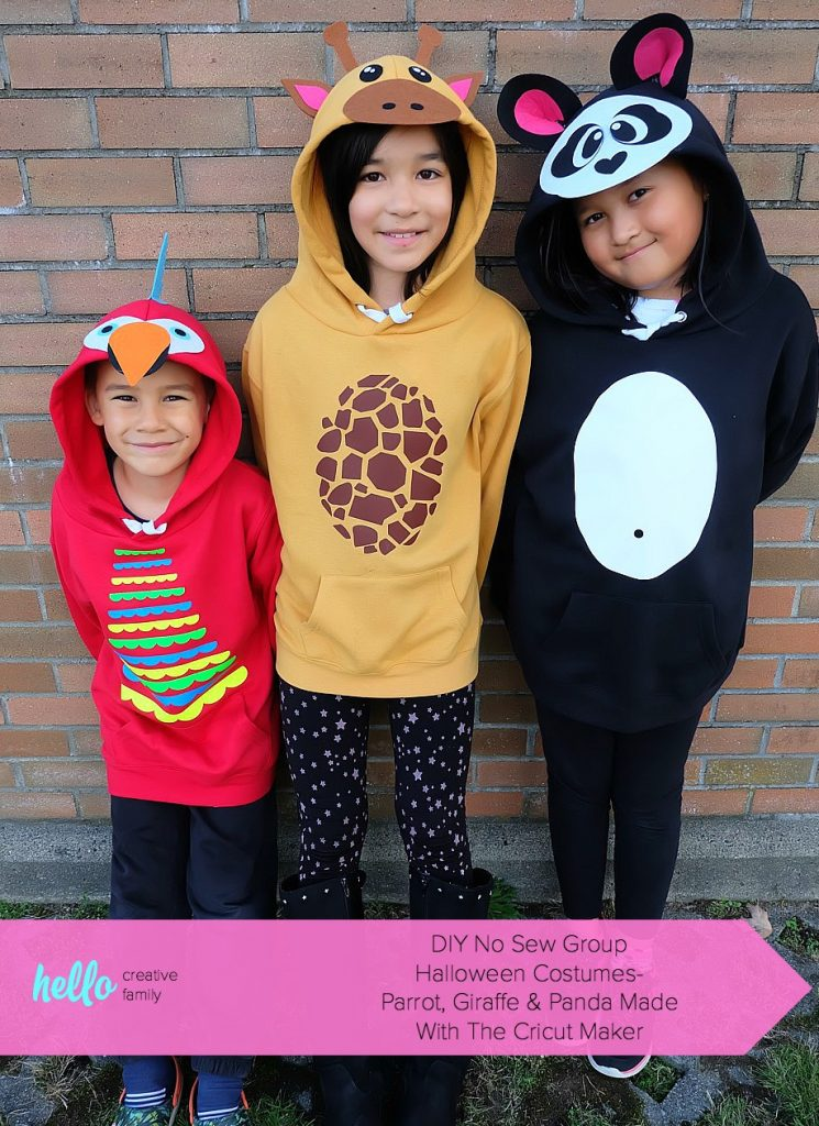 Halloween Costume Ideas - Zoo Animals Hoodies by Hello Creative Family