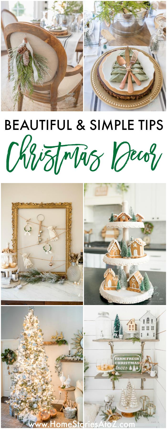 10 Beautiful and Simple Christmas Decor Tips