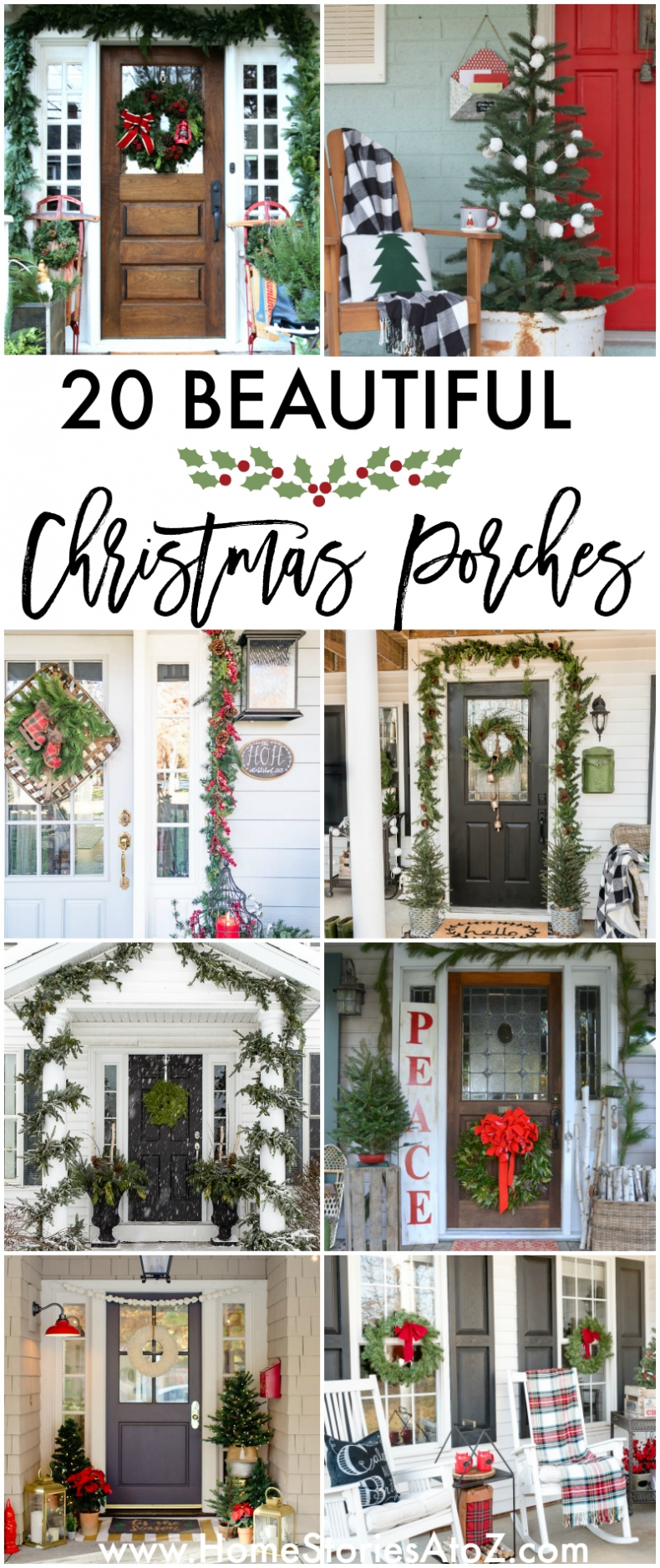 20 Beautiful Christmas Porch Ideas