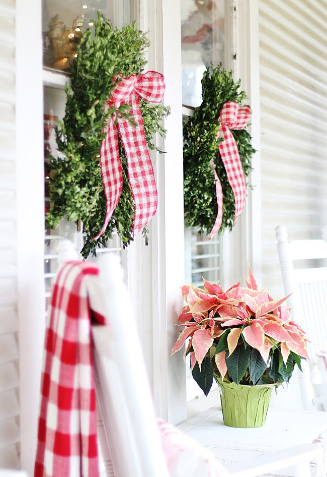 Beautiful Christmas Porch Ideas - Christmas Cottage by Thistlewood Farms