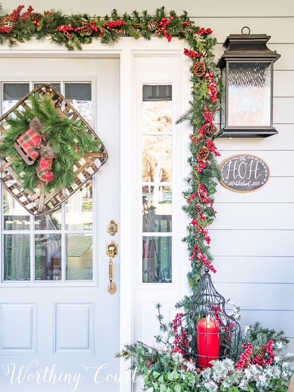 Beautiful Christmas Porch Ideas - Christmas Front Porch by Worthing Court Blog