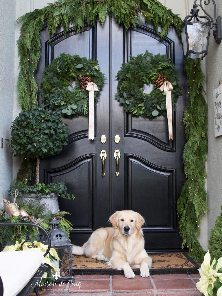 Beautiful Christmas Porch Ideas - Christmas Porch Ideas by Maison de Cinq