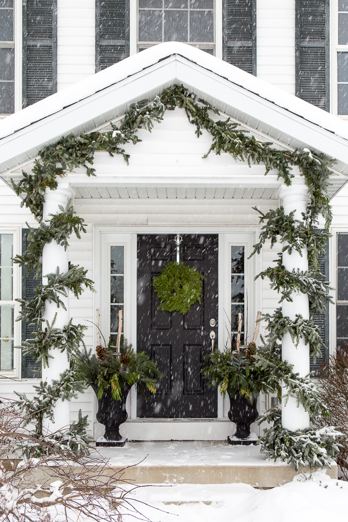 Beautiful Christmas Porch Ideas - Christmas Porch by Just a Girl Blog