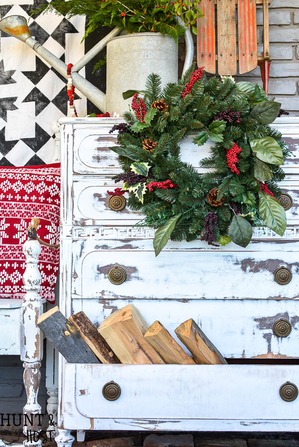 Beautiful Christmas Porch Ideas - Christmas Wreath Ideas by Salvaged Living