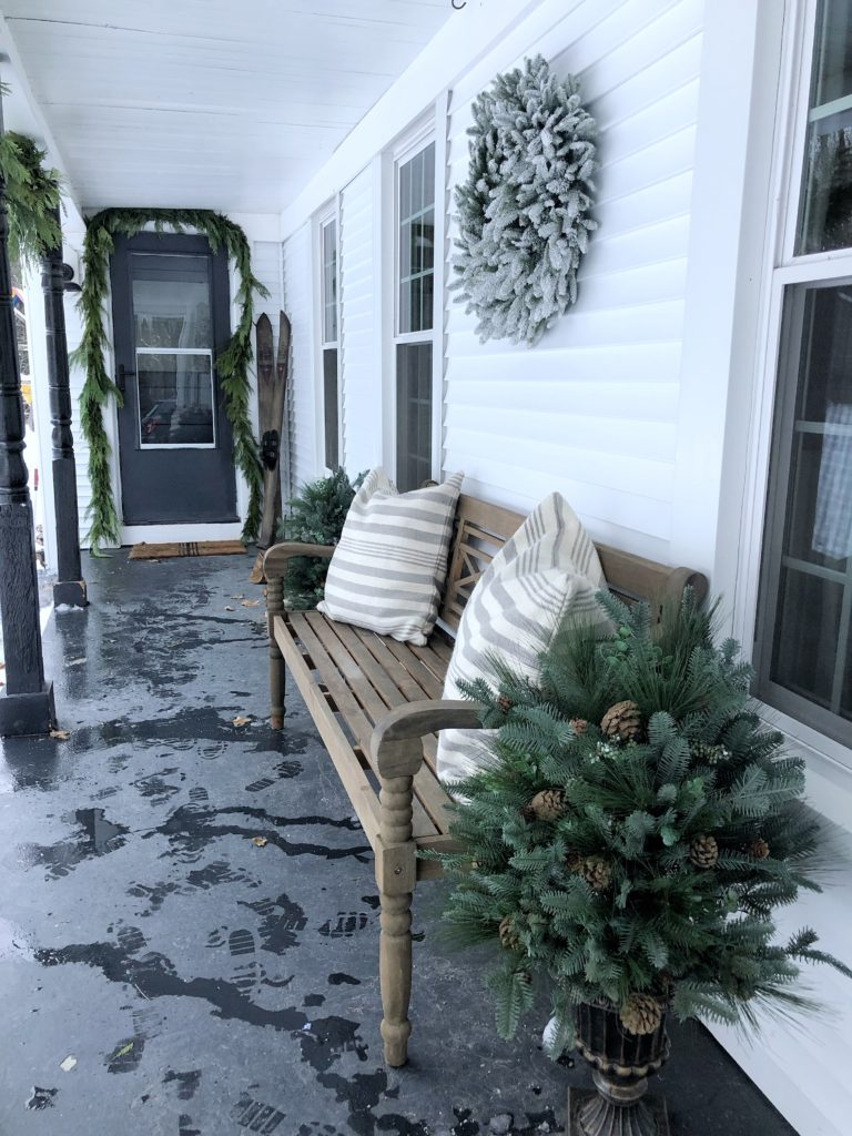 Beautiful Christmas Porch Ideas - Cozy Christmas Porch by Rooms for Rent Blog