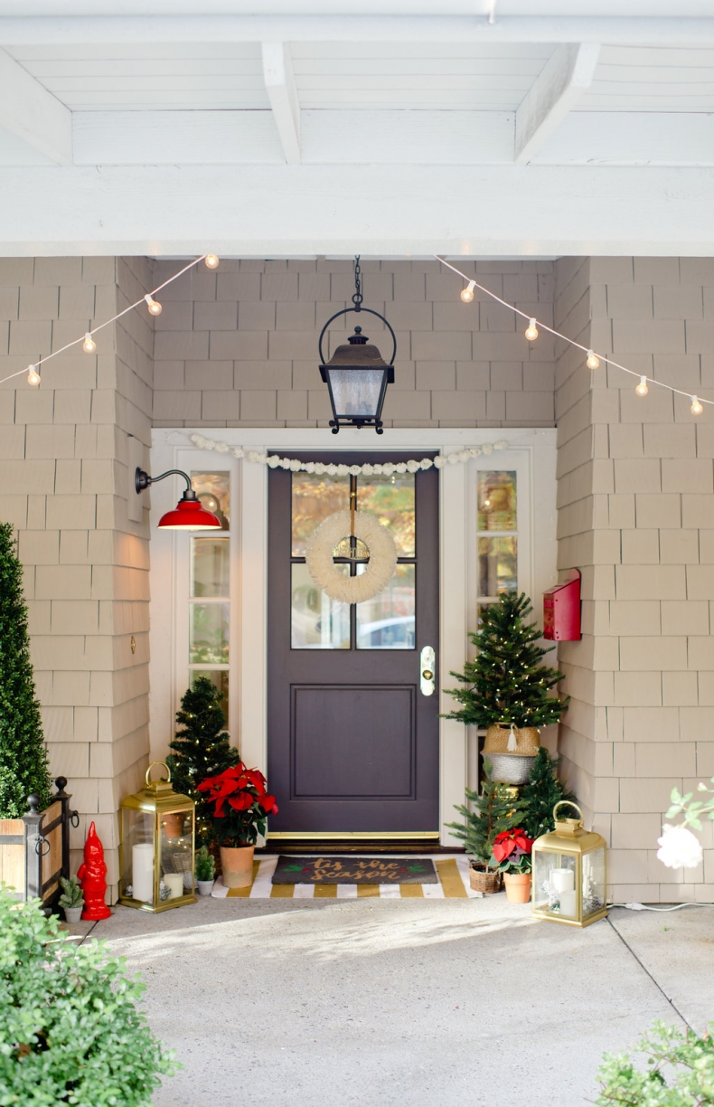Beautiful Christmas Porch Ideas - Holiday Home Tour by Modern Glam